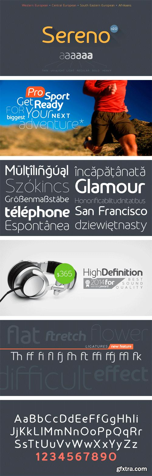 Sereno Font Family - 12 Fonts $349