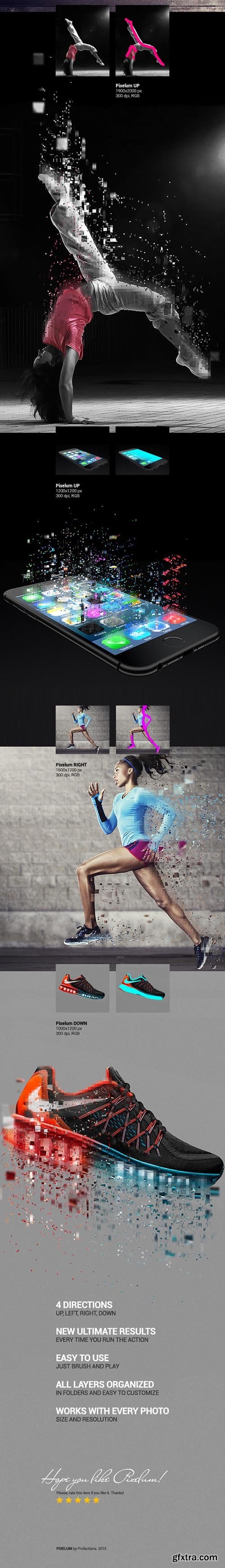 GraphicRiver Pixelum PS Action 10682693