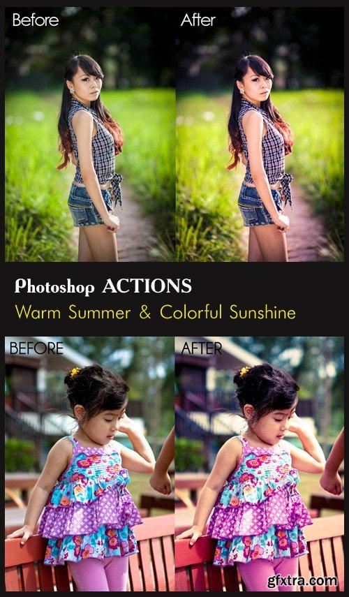 Photoshop Actions - Warm Summer & Colorful Sunshine