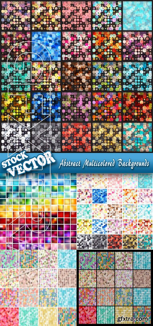 Stock Vector - Abstract Multicolored Backgrounds