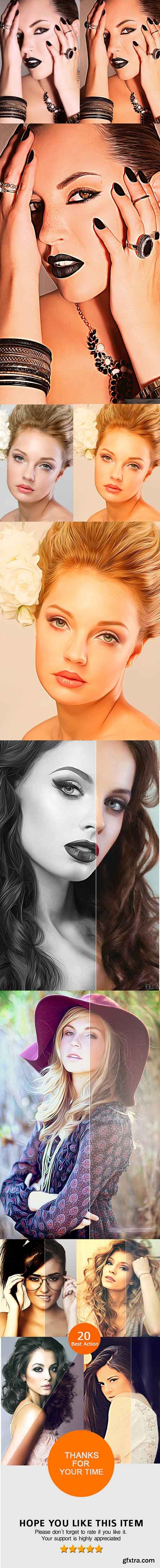 GraphicRiver Realistic Oil Painting Effects - Photoshop Action 10692055