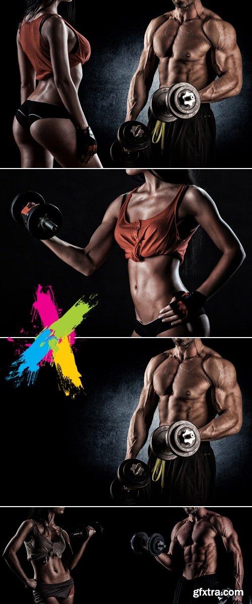 Stock Photo - Athletic Man & Woman