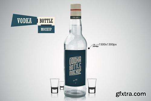 Vodka Bottle - Mockup - CM 219361