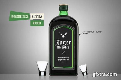 Jagermeister Bottle - Mockup - CM 218606
