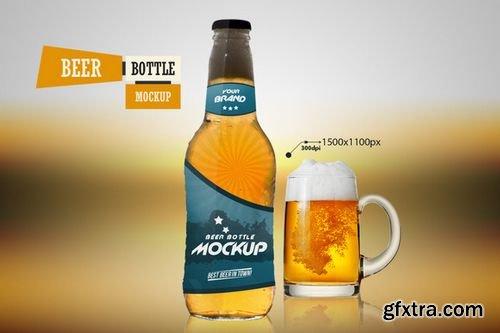 Beer Bottle - Mockup - CM 218612