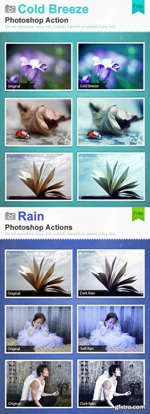 Photoshop Actions - Rain & Cold Breeze