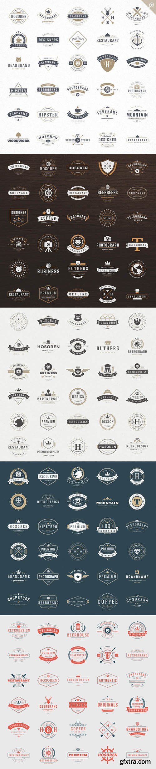 CM 420 Vintage Logotypes and Badges 221794