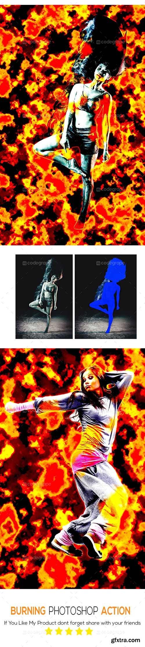 CodeGrape - Burning Photoshop Action 5405