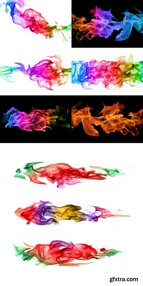 Stock Photos - Abstract Colorful Fire Flames Isolated