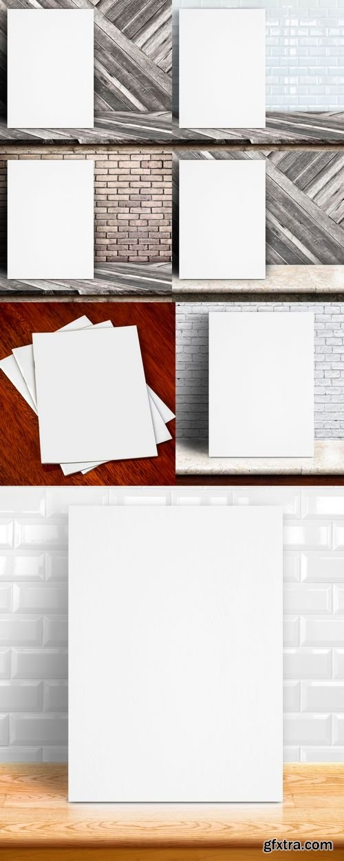 Stock Photos - Paper Poster Mock Up