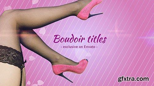 Videohive Boudoir Titles10244475