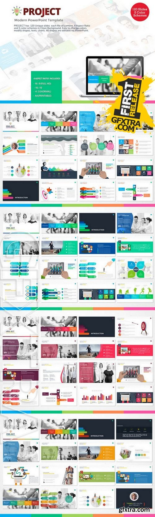 Project - Modern PowerPoint Template - CM 223351