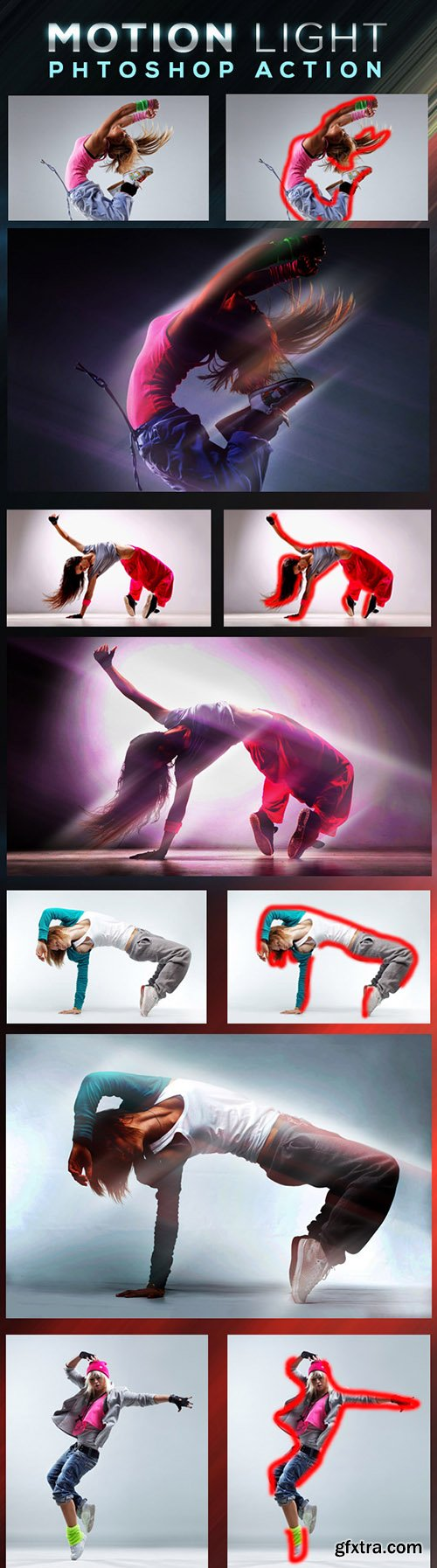 GraphicRiver Motion Light Photoshop Action 10735074