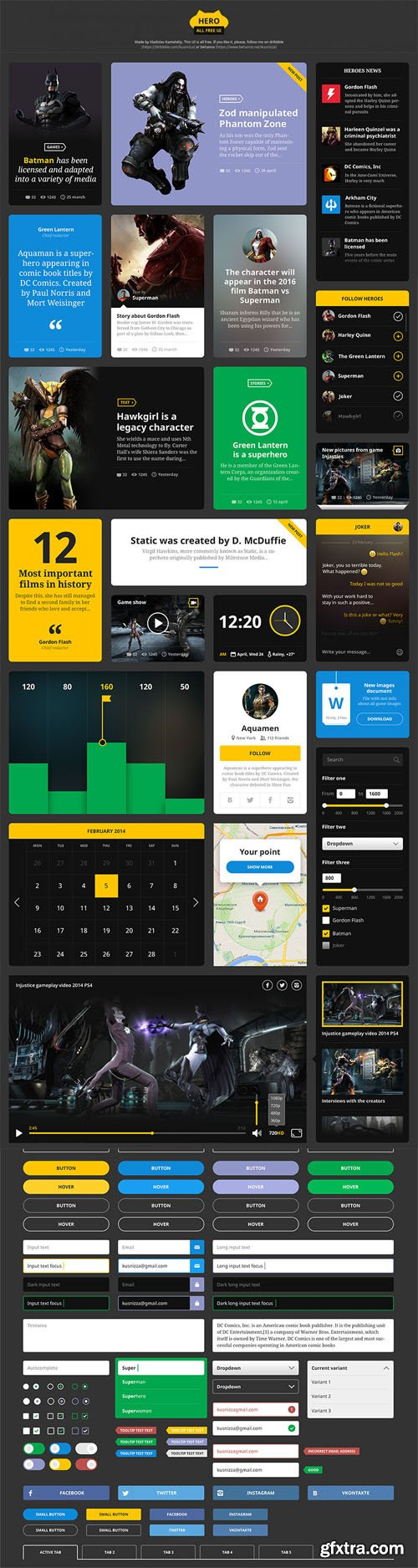 PSD Web Design - Clean and Modern Style Hero UI Kit
