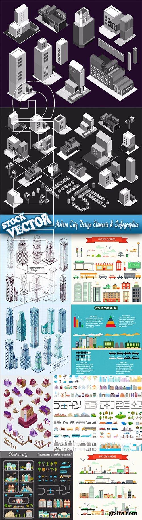Stock Vector - Modern City Design Elements & Infographics