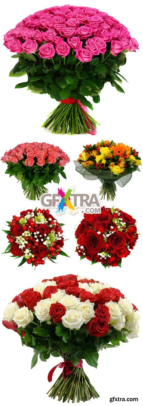 Stock Photo - Flowers Bouquet Isolated