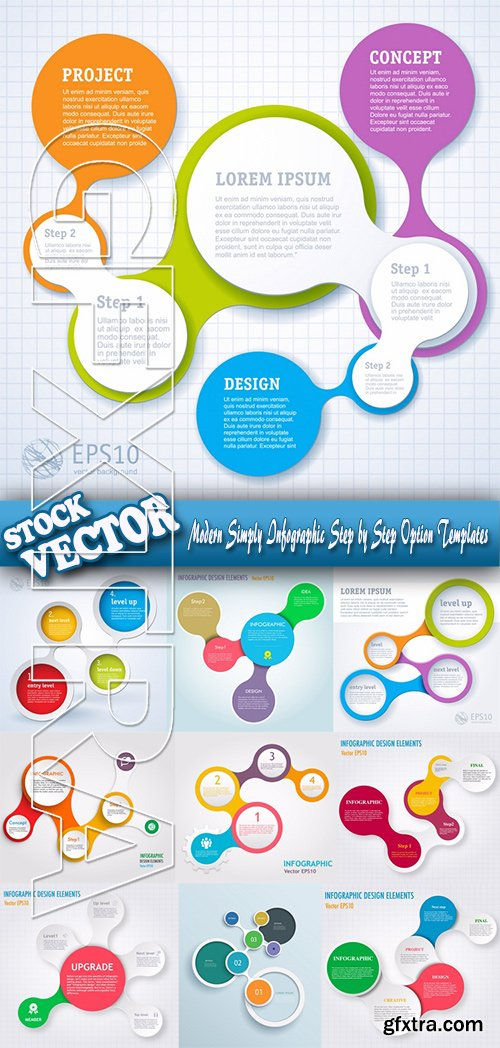Stock Vector - Modern Simply Infographic Step by Step Option Templates
