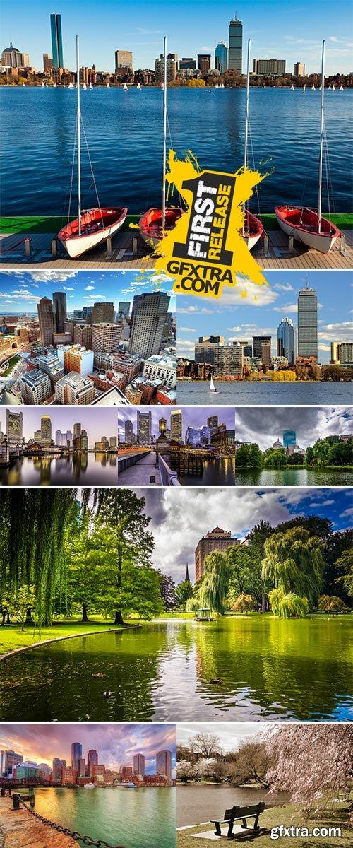 Stock Photo Boston, Massachusetts, USA downtown skyline