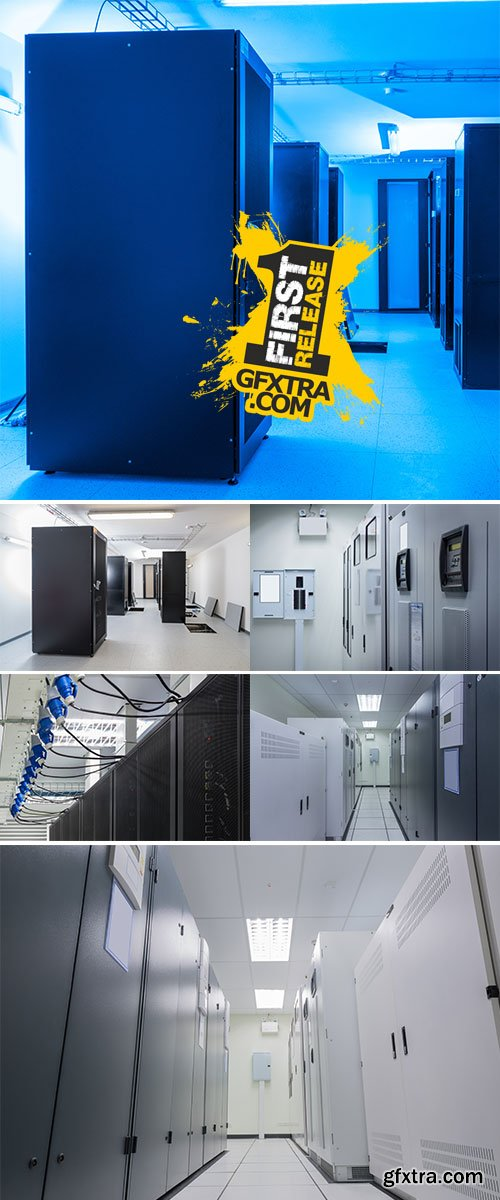 Stock Photo Power Supply system for Data Center, Server Room. Facility room