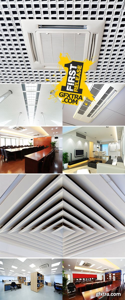 Stock Photo Air conditioning system installed on the ceiling