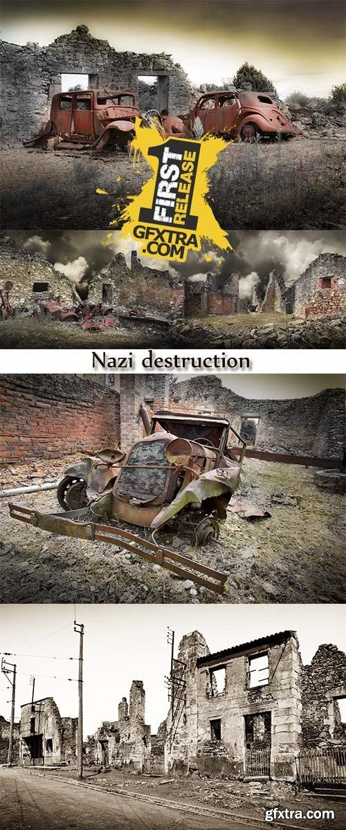 Stock Photo: Nazi destruction