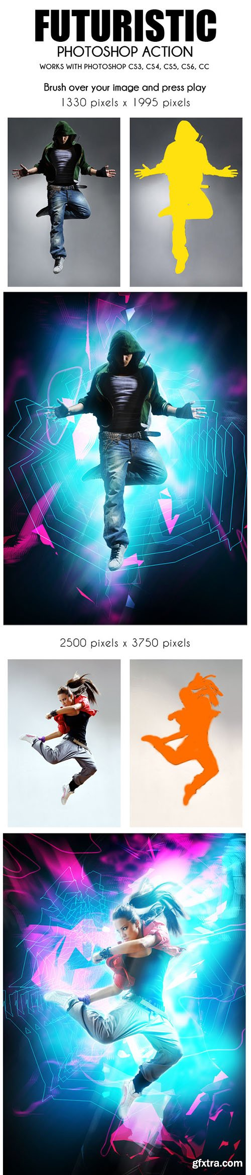 GraphicRiver Futuristic Photoshop Action 10839789