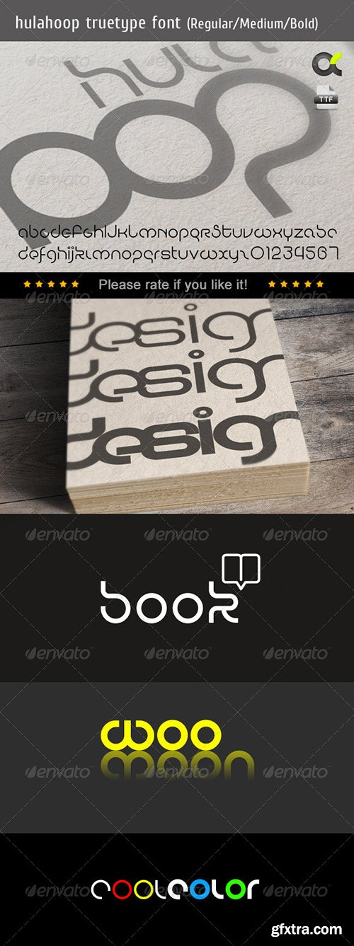 GraphicRiver HulaHoop TrueType Font 8434186 - 3 Fonts