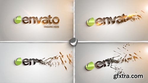 Videohive Clean Part Logo Intro 8454537