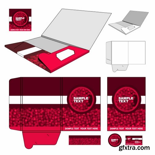 Collection of vector image template folder business card box for collection of vector image template folder business card box for cutting 25 eps reheart Images