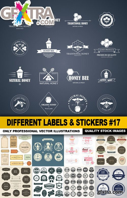 Different Labels & Stickers #17 - 25 Vector