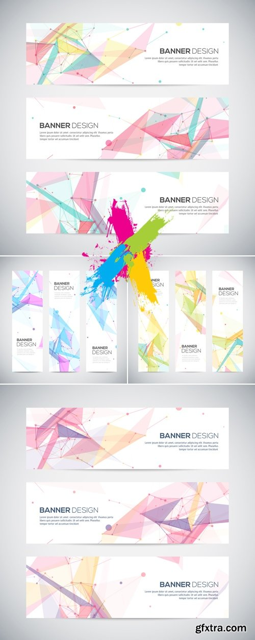Abstract Banners Vector 2