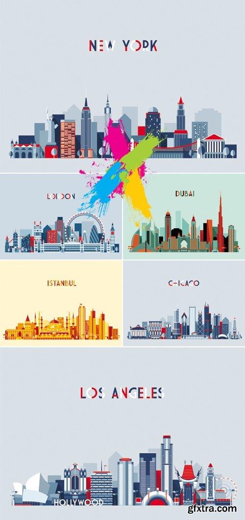 Most Popular Cities Vector