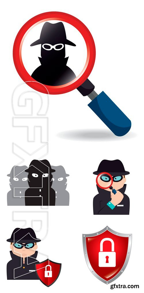 Stock Vectors - Security design over white background, vector illustration