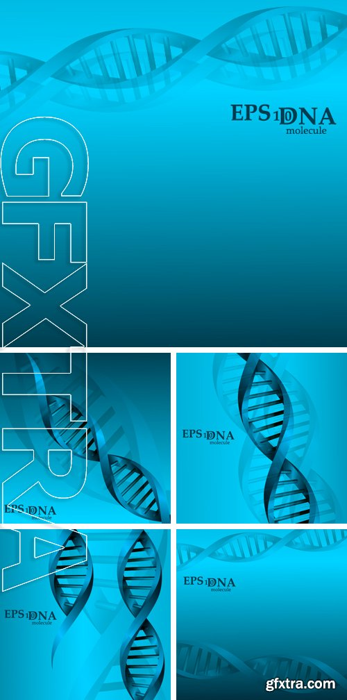 Stock Vectors - Vector and mesh DNA molecule structure background illustration. Science and biotechnology organic design element