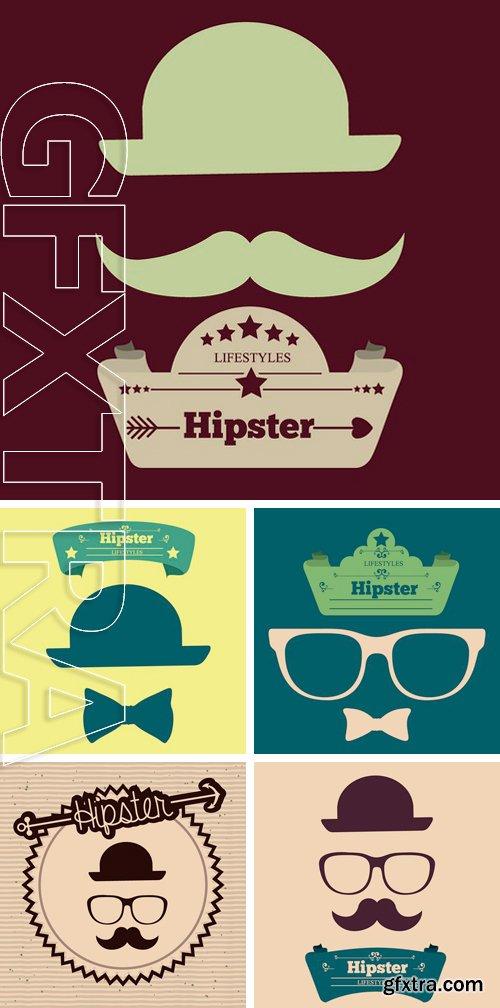 Stock Vectors - Hipster design over blue background, vector illustration