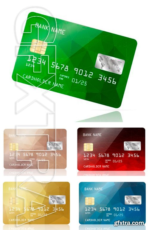 Stock Vectors - Realistic detailed credit card