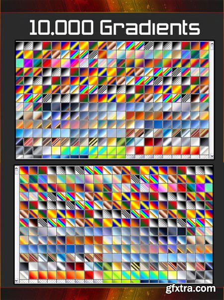 10.000 Gradients (GRD) for Photoshop