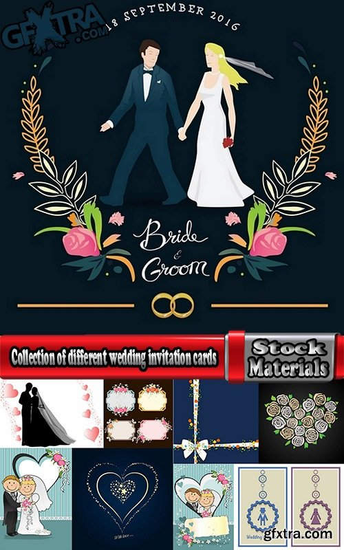 Collection of different wedding invitation cards #6-25 Eps
