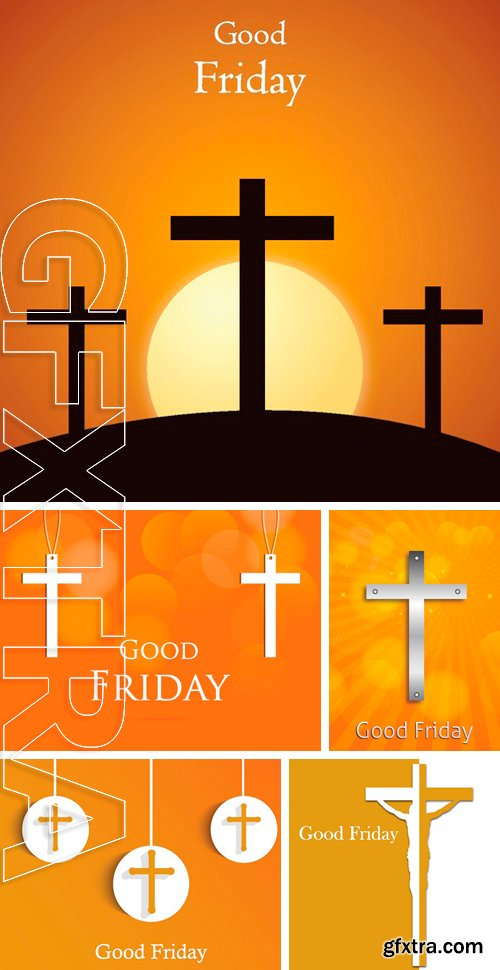 Stock Vectors - Good Friday background concept with Illustration of Jesus cross