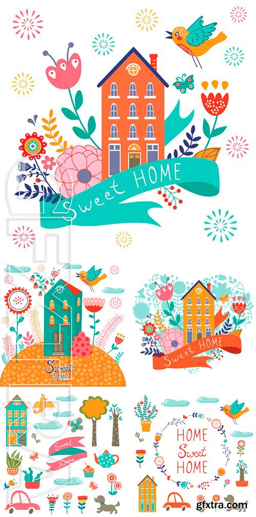 Stock Vectors - Home sweet home