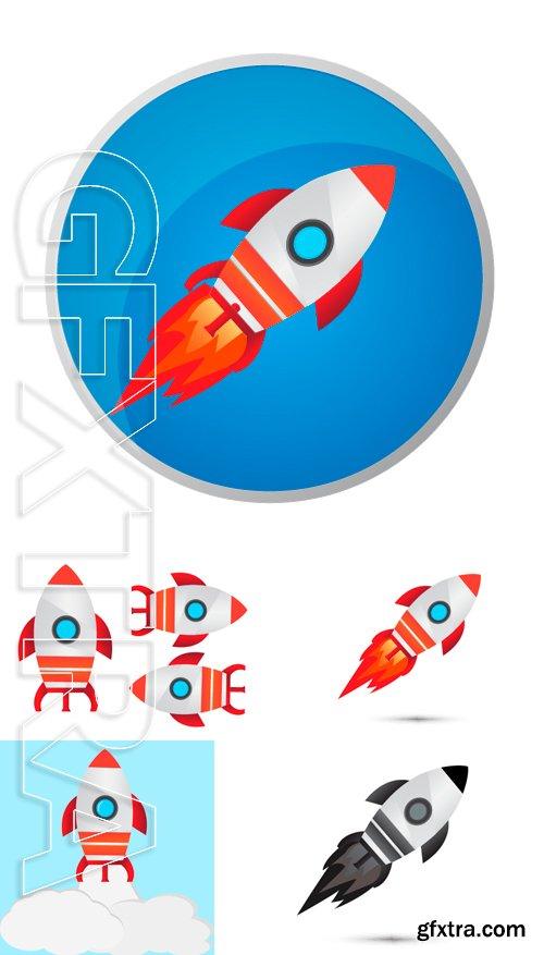 Stock Vectors - Rocket launch vector