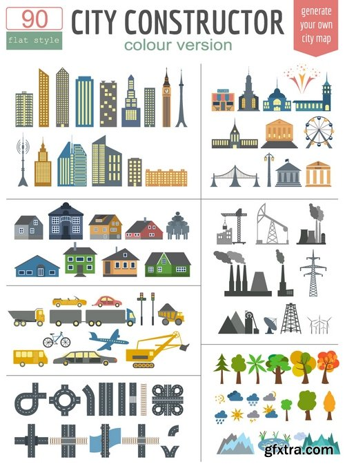 Stock Vectors - City Map Generator. elements for creating your perfect city