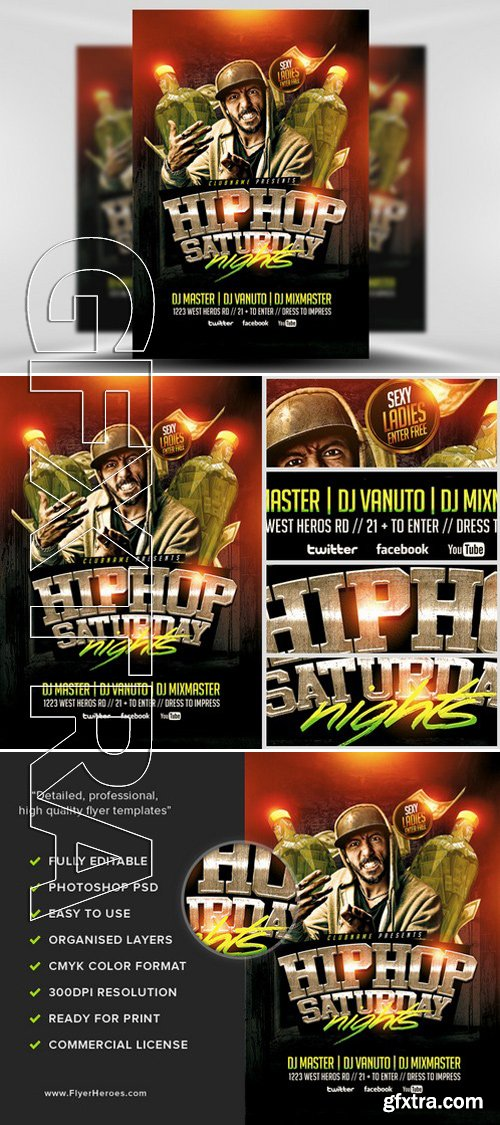 Hip Hop Saturdays Flyer Template