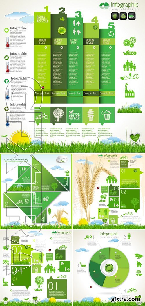 Stock Vectors - Ecology template