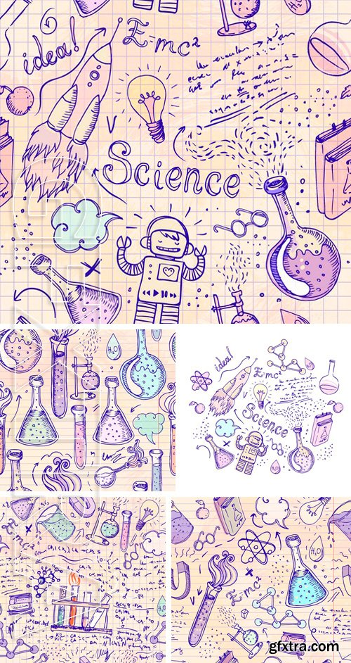 Stock Vectors - Back to School science lab objects
