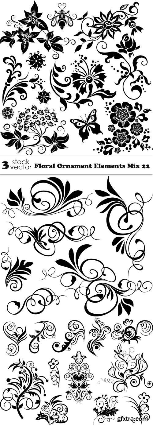 Vectors - Floral Ornament Elements Mix 22