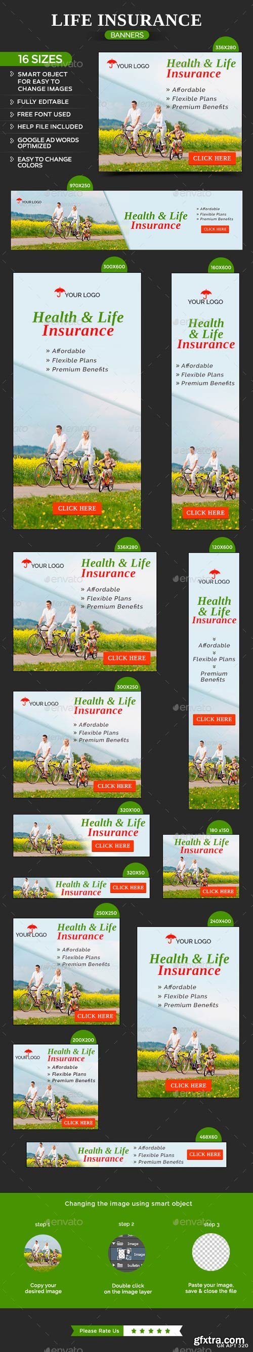 GR - Health & Life Insurance Banners