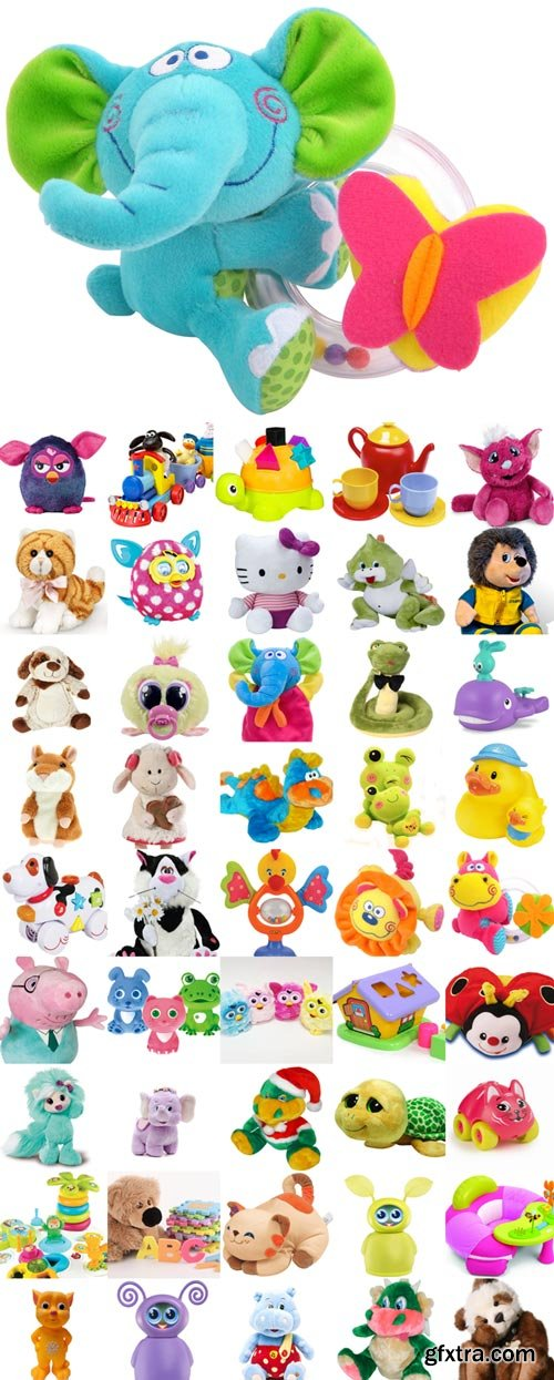 Funny toys raster graphics