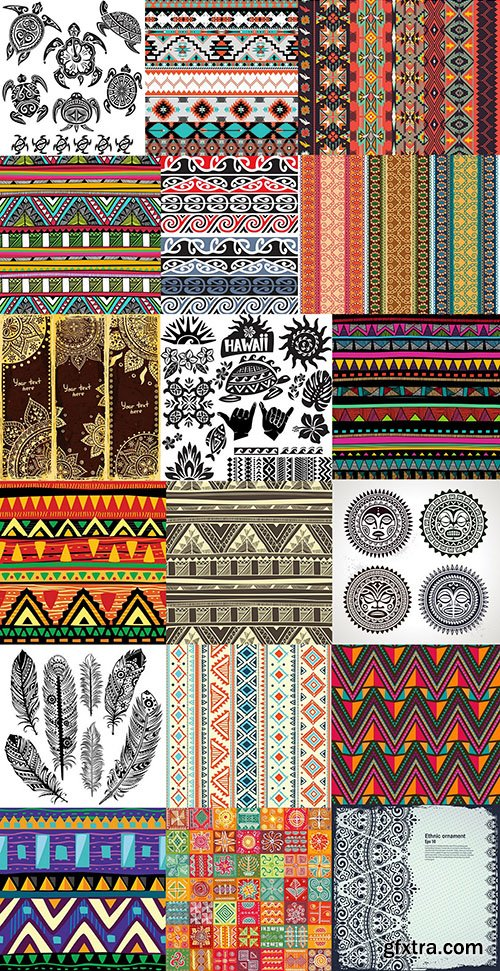 Tribal & Ethnic Ornament, 25xEPS