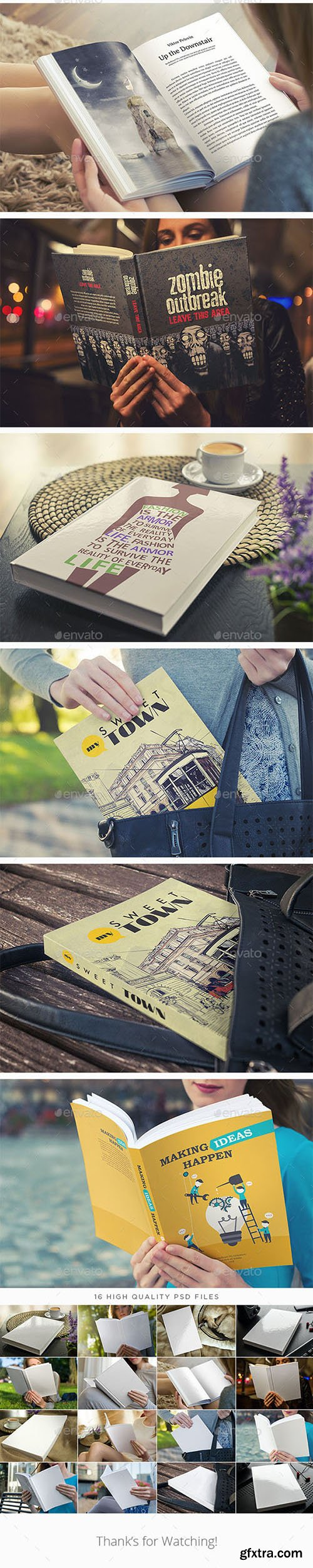 GraphicRiver: Book Mock-Up Bundle 1093853